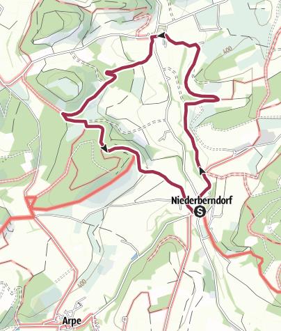 Karte / Rundweg um Niederberndorf (NB1)