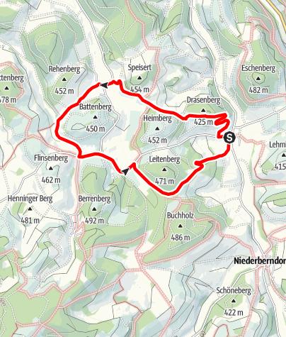 Karte / Rundweg um Menkhausen (Me1)