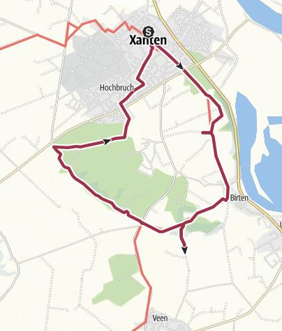 Map / Rund um Xanten