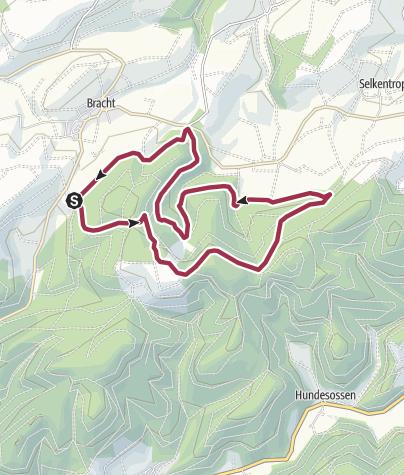 Karte / Rundweg um Bracht (BR1)