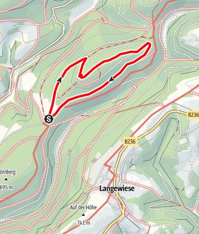 Kaart / Rundweg vom Parkplatz Hoher Knochen (A4)