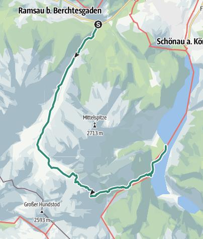 Karte / Watzmannrunde