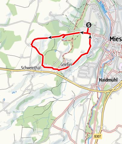 Karte / Durch den Stadtwald zum Märchenweiher
