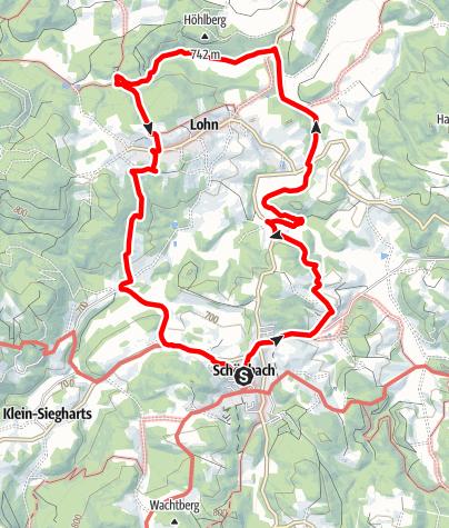 Mapa / Lohnbachfallweg