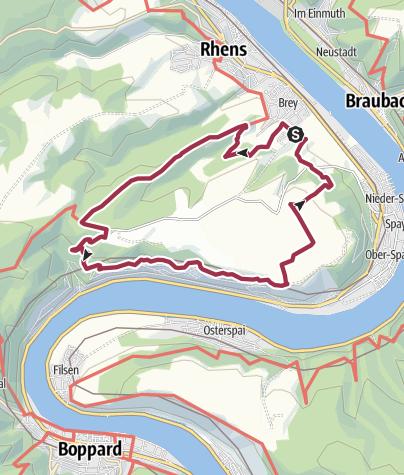 Karte / Traumpfad Rheingoldbogen