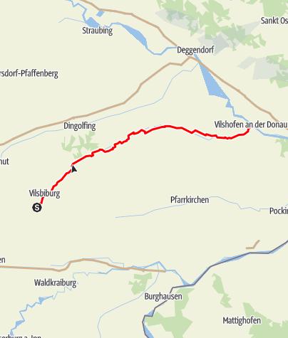 Karte / Vilstal-Radweg