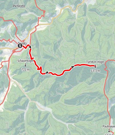 Karte / Wanderung auf den Türnitzer Höger