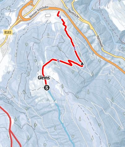 Karte / Rodelbahn Gleins