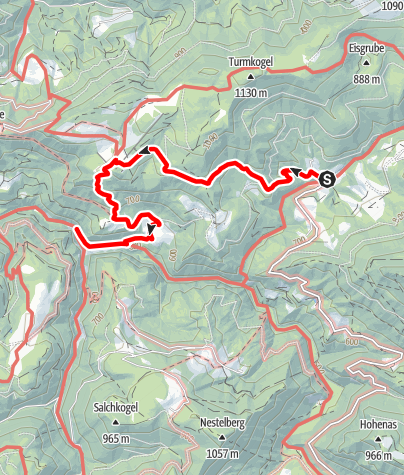 Karte / Naturparkeingang Treffling - Hochbärneck - Eibenboden