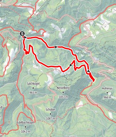 Karte / Naturparkeingang Eibenboden: Vordere Tormäuer - Nestelbergrunde