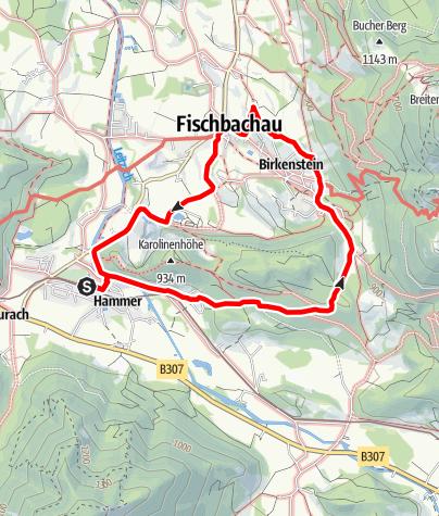 Karte / Rundweg mit Bergblickpanorama
