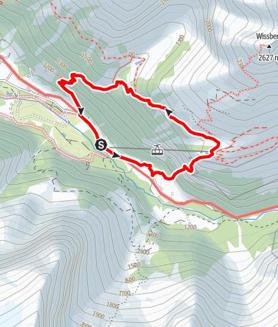 Kaart / Der Fürenwand-Klettersteig über Engelberg/Titlis