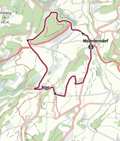 Map / Rundweg um Niederberndorf (NB3)