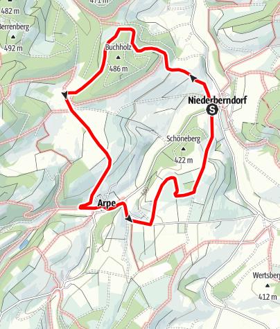 Karte / Rundweg um Niederberndorf (NB3)