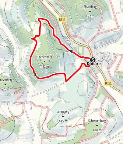 Karte / Rundweg um Dorlar (D11)