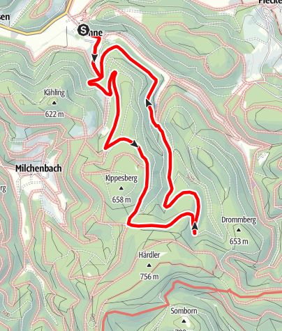Karte / Rundweg um Lenne (LE2)