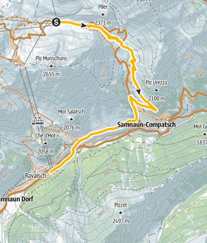 Karte / 697 Duty Free Ride Laret-Samnaun