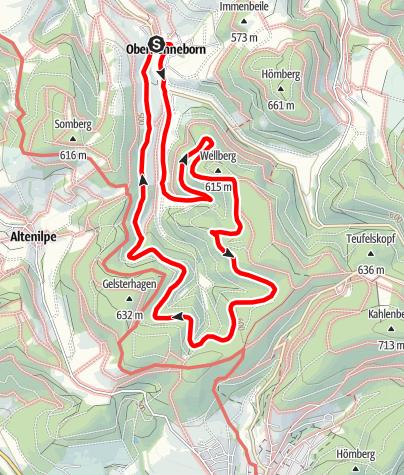 Karte / Rundweg um Oberhenneborn (OH3 )
