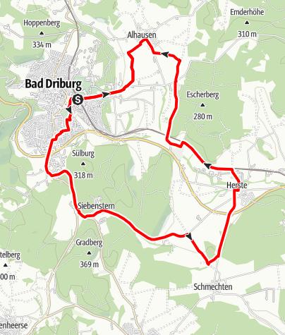 Karte / Bad Driburger Radrouten, Tour 4