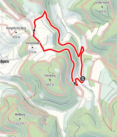 Karte / Rundweg um Oberrarbach (OR1)