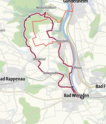 Karte / Staufische Burgenrundtour um Bad Wimpfen