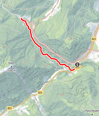 Karte / Tour durch die Erlebniswelt Mendlingtal
