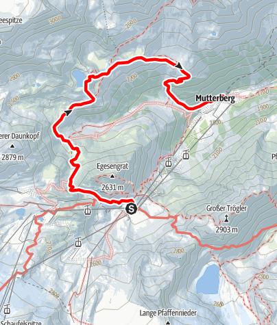 Mapa / Mutterbergalm - Mutterberger See