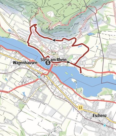 Map / Hermann-Knecht-Kunstroute Stein am Rhein