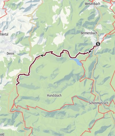 Karte / Westweg-Etappe 03: Forbach - Unterstmatt