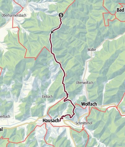 Karte / Westweg-Etappe 06: Hark - Hausach