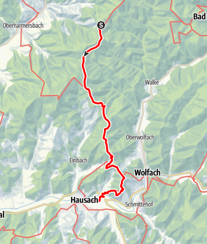Map / Westweg: stage 06 (Hark - Hausach)