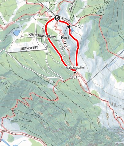 Karte / Planai Panorama-Rundweg