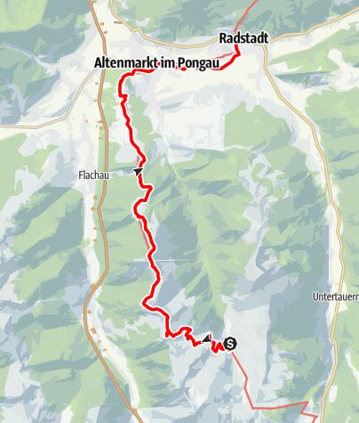 Map / Arnoweg/Etappe 49 Zauchensee-Altenmarkt