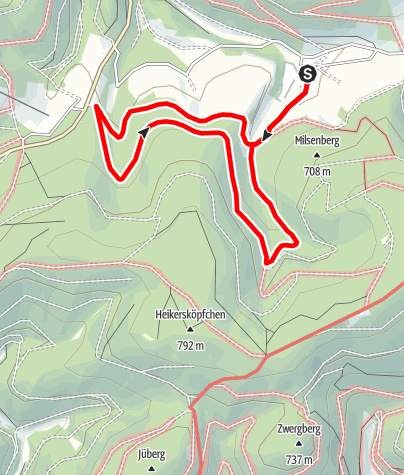 Karte / Rundweg um Osterwald (O1)