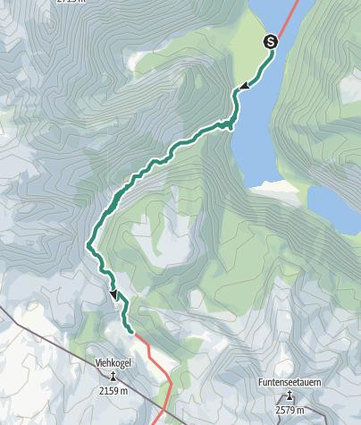 Karte / Durch die Saugasse zum Funtensee