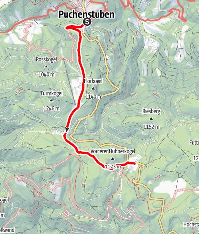 Mapa / Puchenstuben - Brandeben - Wastl am Wald