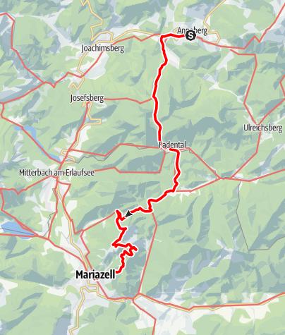 Map / Sabel - Fadental - Walster - Hubertussee - Mariazell