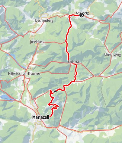 Karte / Sabel - Fadental - Walster - Hubertussee - Mariazell
