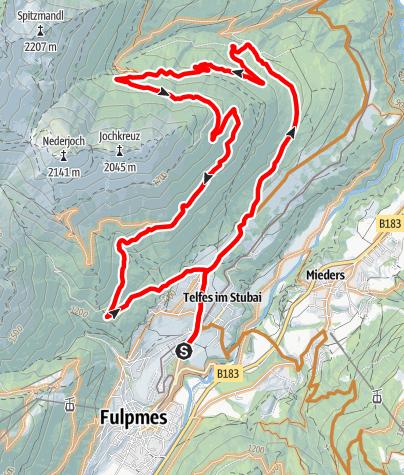 Karte / 565 Telfer Berg