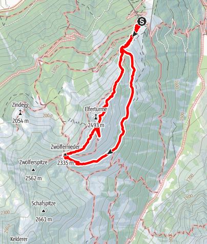 Mapa / Klettersteig Elferkofel