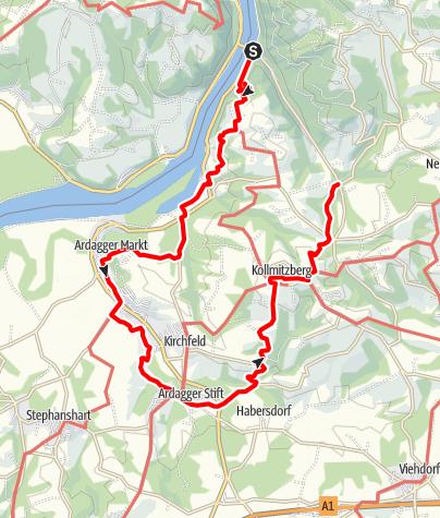 Karte / Donauhöhenrundwanderweg
