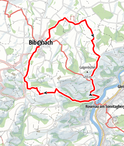 Karte / Wanderweg 381 und 382