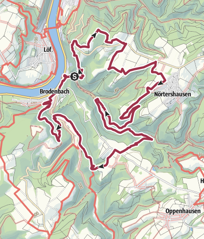Karte / Traumpfad Bergschluchtenpfad Ehrenburg