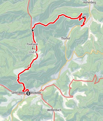 Karte / Traisenberg - Gschwendt
