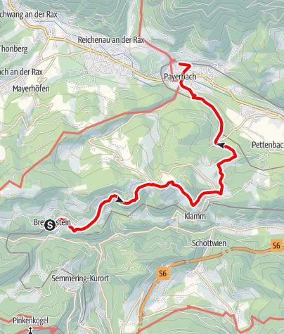 Karte / Bahnwanderweg: Breitenstein-Payerbach