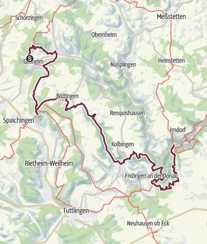 Karte / Donauberglandweg
