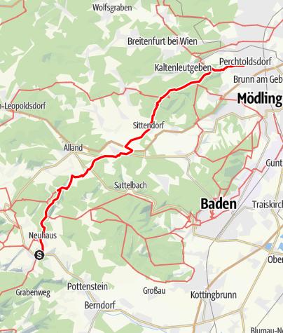 Térkép / Axels Wandertour durch den Wienerwald