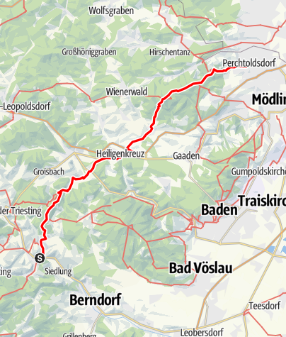 Mapa / Axels Wandertour durch den Wienerwald
