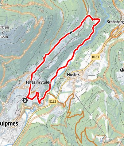 Karte / 563 Telfer Wiesen Tour