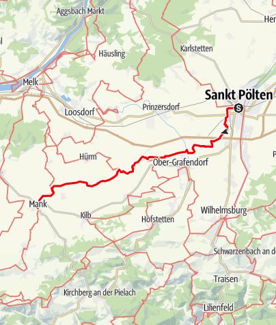 Karte / Manker Wallfahrerweg